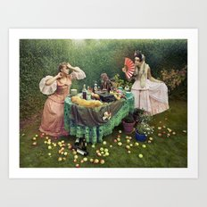Theatrical Tea Party Art Print