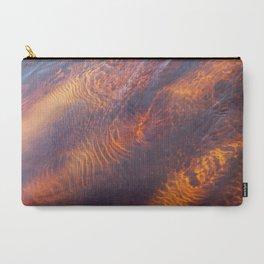 Dark Orange Water Waves Carry-All Pouch