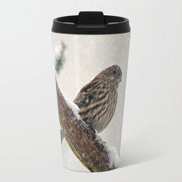 Facing the Storm (House Finch) Travel Mug