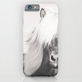 BW Horse, Horse Art, Black and White, Nordic Horse, Horse Print, Boho Decor, Horse Photo iPhone Case