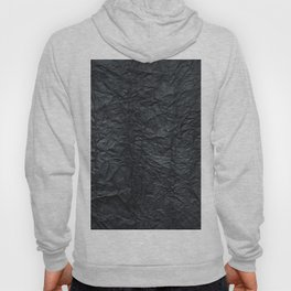 Abstract modern black gray creased paper texture Hoody