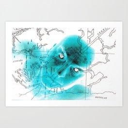 North by Northwest Art Print