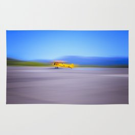 Just a Blur a classic two seater airplane Rug