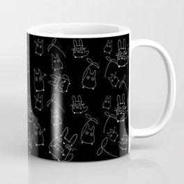 My Neighbour Pattern (Black & White) Coffee Mug