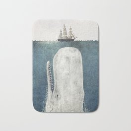 The Whale - vintage  Bath Mat