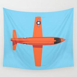 X-1 Mach Buster Rocket Aircraft - Orange Sky Wall Tapestry