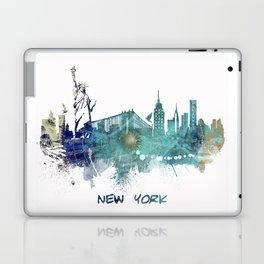 New York City Skyline blue Laptop & iPad Skin