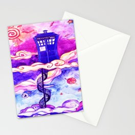 Tardis Colour Stationery Cards