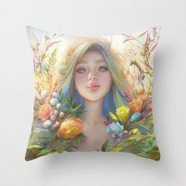 clip studio paint portrait Throw Pillow