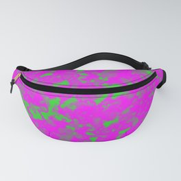A interweaving cluster of pink bodies on a green background. Fanny Pack