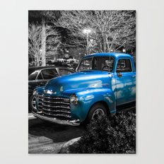 Classic Blue 1953 Chevy Pickup Truck Canvas Print