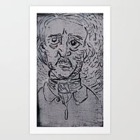 edgar allen poe Art Prints featuring Edgar Allen Poe by Vrgnwitch Art
