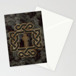 Decorative celtic knot, vintage design Stationery Cards