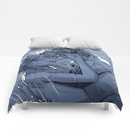 Supercat Kiss in the Rain BLUE Comforters