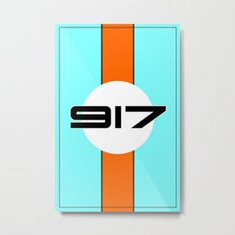 917 Gulf Racing Design Metal Print