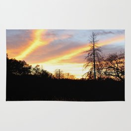 Fire in the sky. Rug