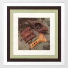Iron, Wood, Copper Art Print