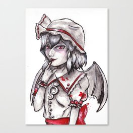 Little vampire - Remilia Scarlet Canvas Print