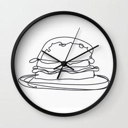 Cheeseburger Cheeseburger Wall Clock