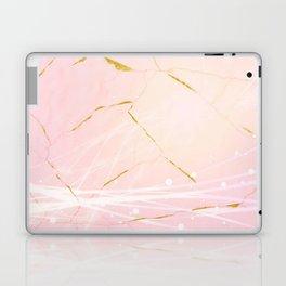 Rose Gold Marble Burst Laptop & iPad Skin