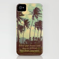 Follow Your Dreams iPhone (4, 4s) Slim Case