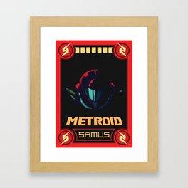 Metroid Poster Framed Art Print