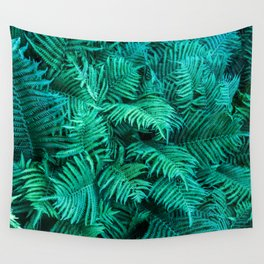 Fern Photography | Emerald | Turquoise |Tropical Leaves | Art Print Wall Tapestry