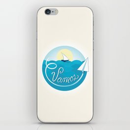 Vamos (Let's go) - Beach iPhone Skin
