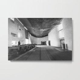 La Chapelle Notre-Dame-du-Haut de Ronchamp - Le Corbusier Metal Print