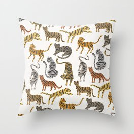 Tiger Collection – Neutral Palette Throw Pillow