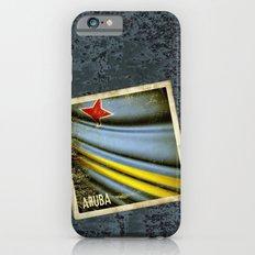 Grunge sticker of Aruba flag iPhone 6s Slim Case