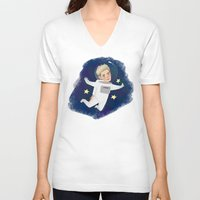 niall V-neck T-shirts featuring Space Niall by Ashley R. Guillory