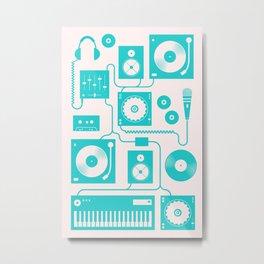 Electronica Metal Print