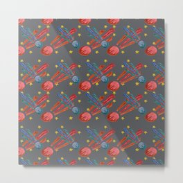 Space Odessey Comets Metal Print