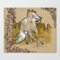 mucha Canvas Prints featuring  Mucha Horse by emilyszalay