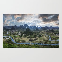 Karst Pinnacle landscape of Guilin Rug