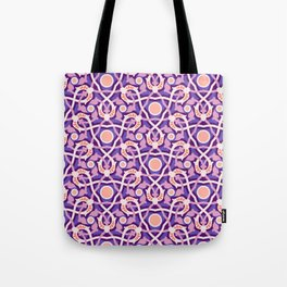 Purple Arabesque Tote Bag