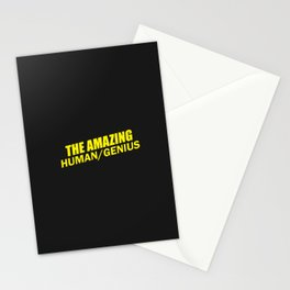 b99 - the amazing human slash genius Stationery Cards