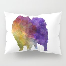 Japanese Spitz in watercolor Pillow Sham