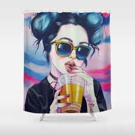 DOPE--GIRL 2 Shower Curtain