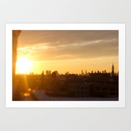 Manhattan in Butter Light Art Print