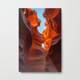 SAND & SKY ANTELOPE CANYON ARIZONA PHOTOGRAPHY Metal Print