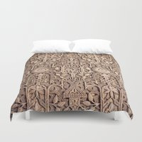 arabic Duvet Covers featuring Arabic Patterns by Laurais Arts