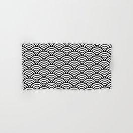 Black White Mermaid Scales Minimalist Hand & Bath Towel
