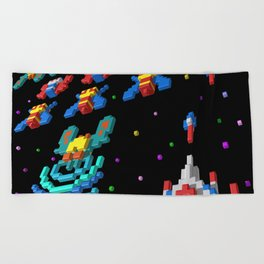 Inside Galaga Beach Towel