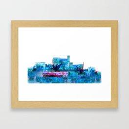 Processing_rendu_905572- blue origami Framed Art Print