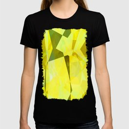 Pale Yellow Poinsettia 1 Abstract Polygons 2 T-shirt