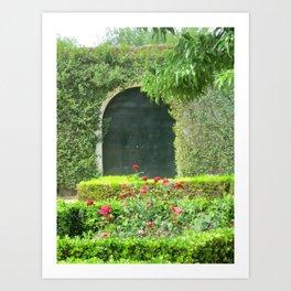 The Door in the Hedge Art Print