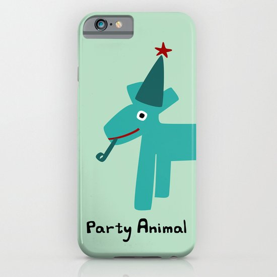 Party Animal-Teal iPhone & iPod Case