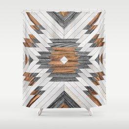 Urban Tribal Pattern No.8 - Aztec - Wood Shower Curtain